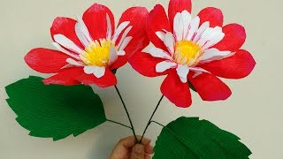 How to make Paper Flower Dahlia Harlequin  (flower # 162)