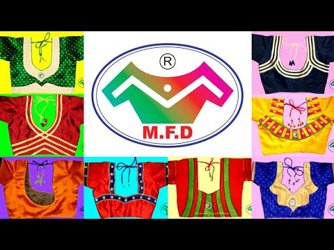 M.F.D Blouse Back Neck Design