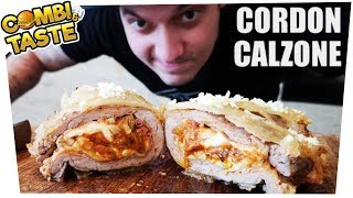 Das Monster! Die CORDON-CALZONE! 🥩🍕😱 Combi & Taste #CaT