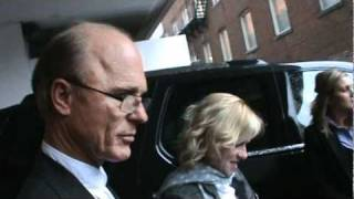 Ed Harris and Amy Madigan - leaving