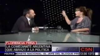 Florencia Peña, mano a mano con Gerardo Rozin - video 1 /  2 Junio- 18,2010