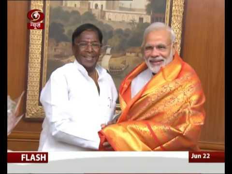 Puducherry CM V. Narayanasamy met Prime Minister today
