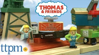 Thomas & Friends Wood Cranky at the Docks and Spin & Lift Crane from Fisher-Price