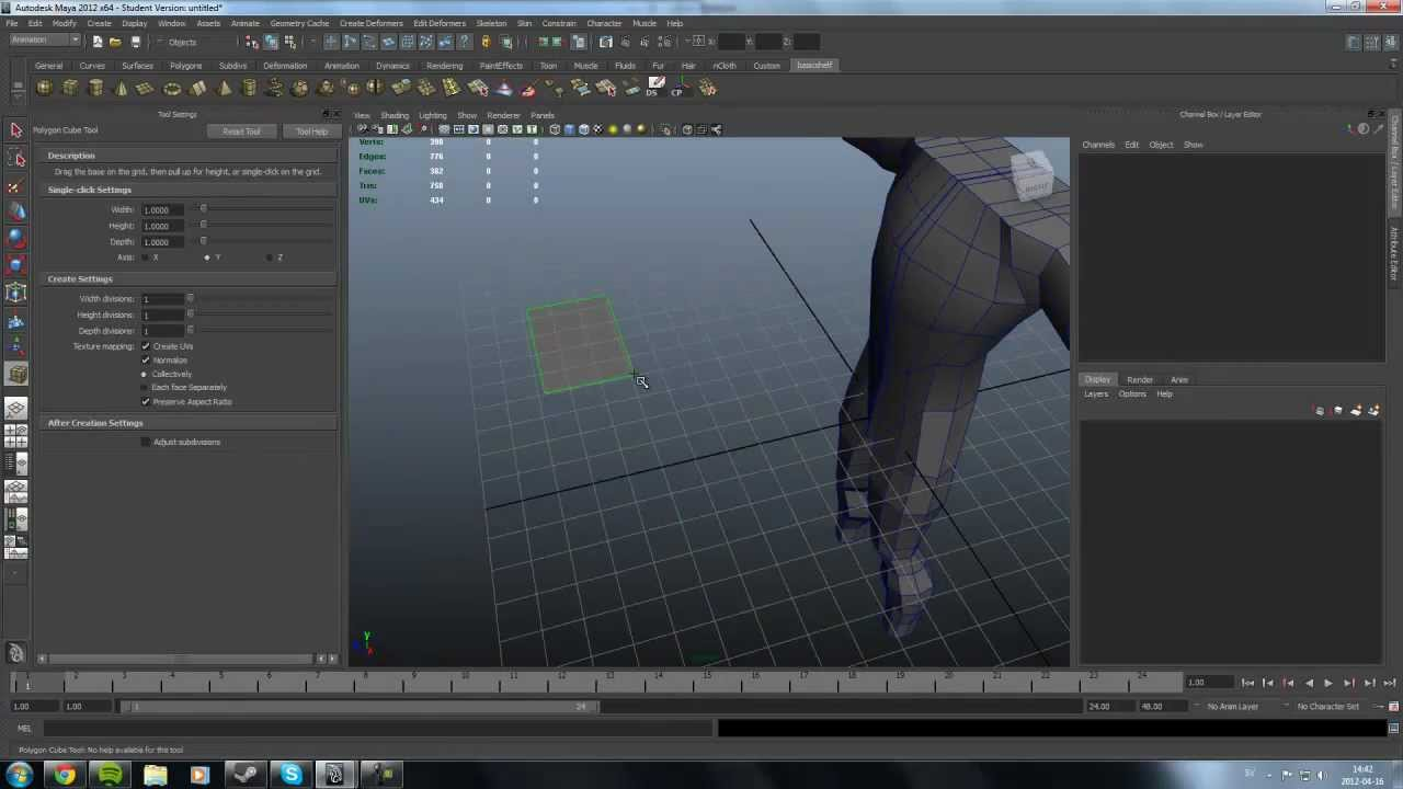 how to put default in body in maya
