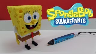 3D pen creation - SpongeBob