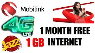 Jazz Free Internet For 1 Month! Ramadan Offer 4G