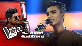 Ruwan Dilshan   Mage Namali (මගෙ නාමලී)   Blind Auditions   The Voice Teens Sri Lanka