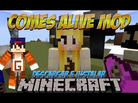 Minecraft 1.7.10 1.7.2 1.6.4 Descargar e Instalar Comes Alive Mod Ten Hijos y Esposa