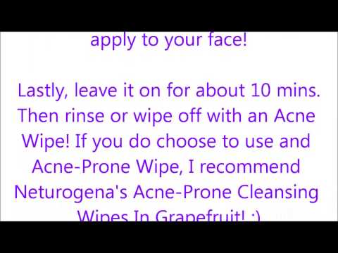 Facial Mask: Acne Skin