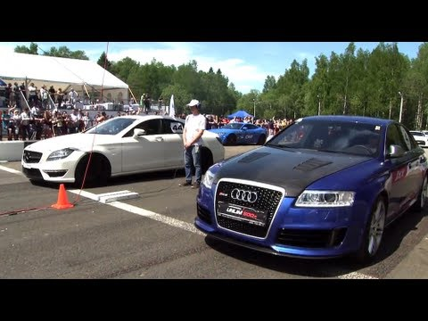 Audi RS6 Gorilla Racing vs CLS 63 AMG vs Gallardo TT Total Race vs 911 Turbo