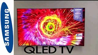 UNBOXING SAMSUNG QLED TV Q8C  New model 2017+ APPS+ UHD+4K!!