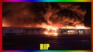 Nortel Lanes Bowling Alley Fire (Monroe Michigan)
