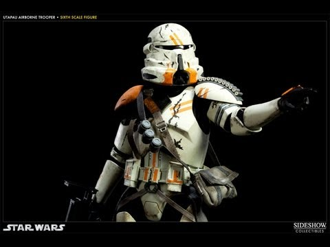 Sideshow 12 Inch Utapau Airborne Trooper HD Action Figure Review | www.flyguy.net