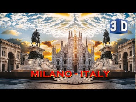 3D -  MILAN - ITALY - Street walk, the Global Capital of fashion & design (3D - Stereoscopic)