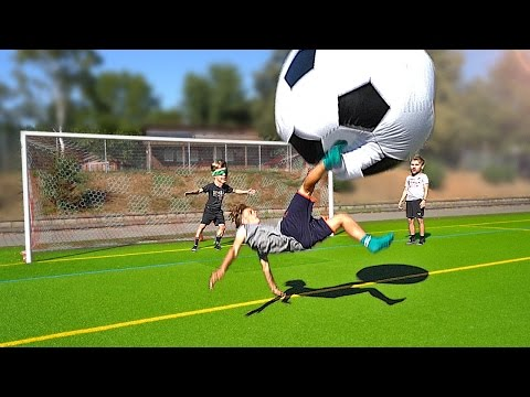 Funny Football Challenges with XXL BALL