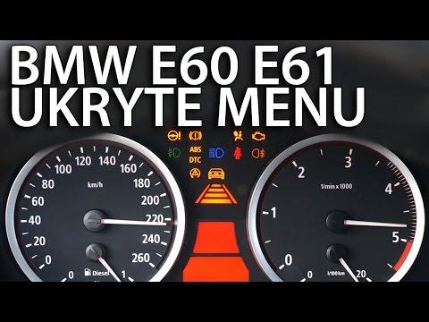 Ukryte menu zegarów BMW E60 E61 (diagnostyczny tryb serwisowy OBC seria 5)