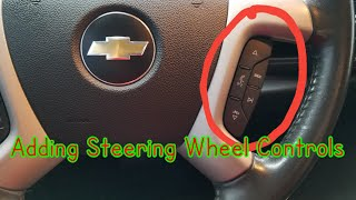 How to add steering wheel radio controls to your Silverado Sierra Tahoe Yukon