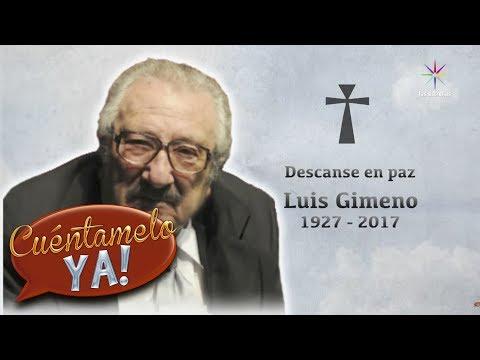 Luis Gimeno muere a los 90 años   Cuéntamelo YA!