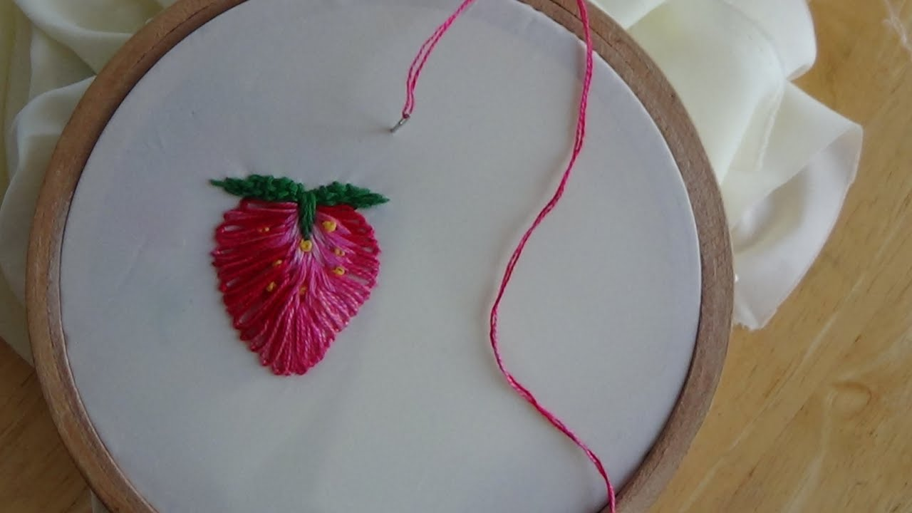 Strawberry Hand Embroidery Design