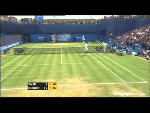 British number two James Ward scored the best victory of his career when he put out defending champion Sam Querrey at the Aegon Championships. For more video...