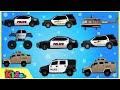 Police Car   Police Vehicles   Cars & Trucks   Videos for Children   Little Kids TV