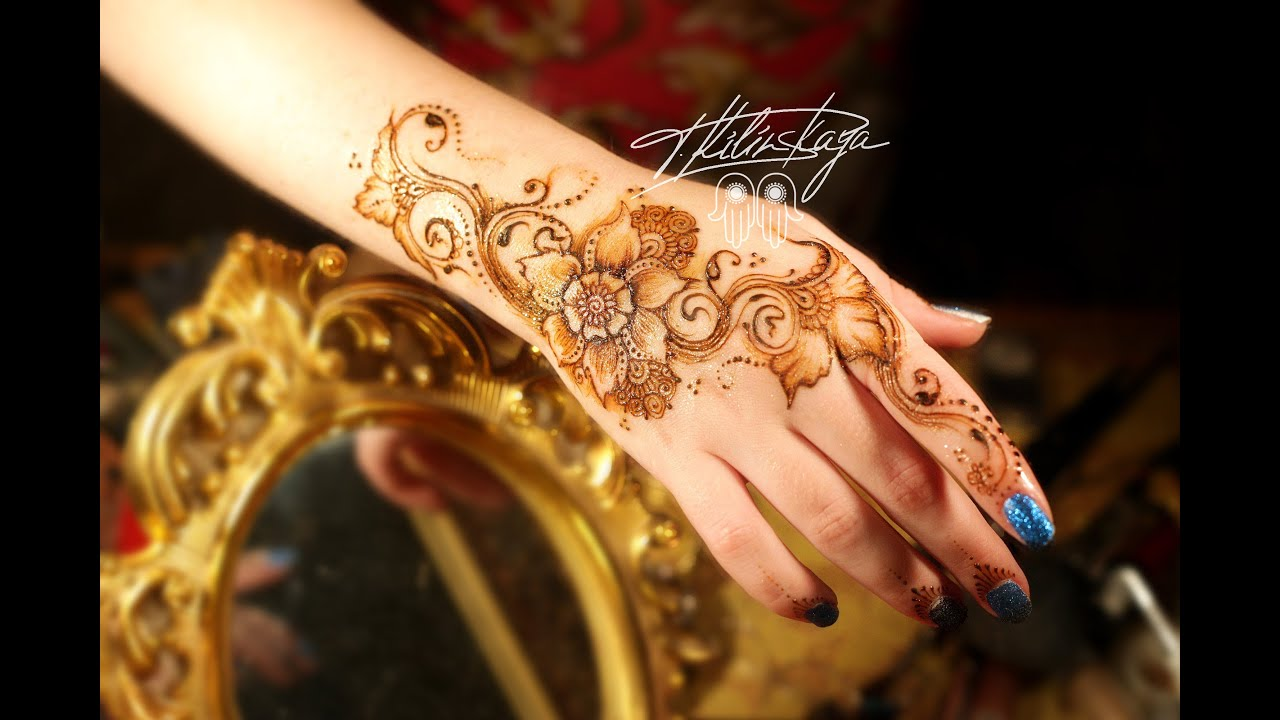 Mehndi Hands With Watch : Floral mehndi design Цветочное мехенди youtube