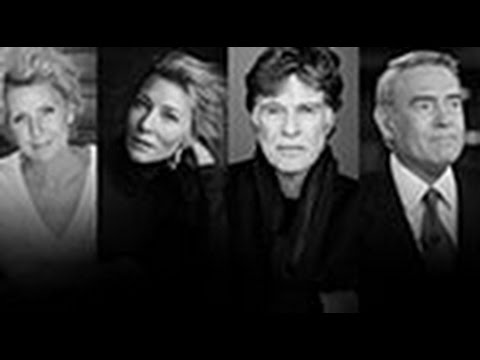 Cate Blanchett and Robert Redford with Dan Rather and Mary Mapes