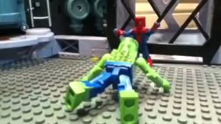The amazing Spiderman vs the lizard minimates stop motion