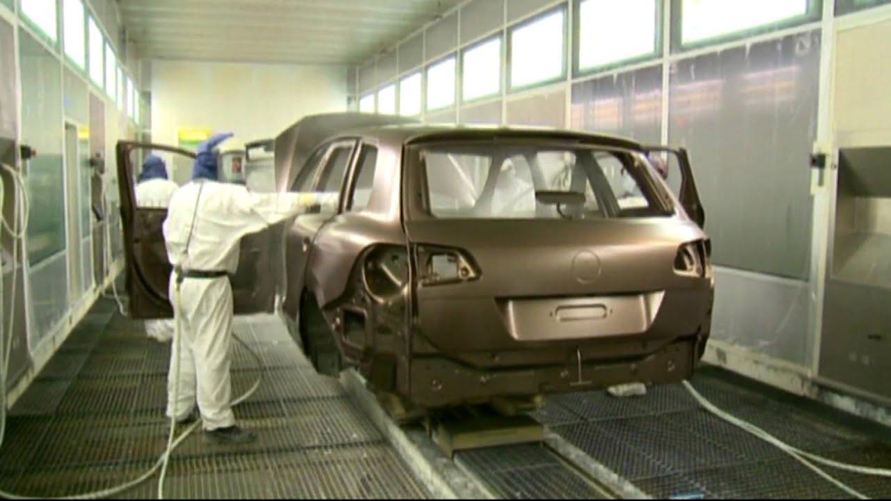 Volkswagen Bratislava Plant Touareg Paint Shop - YouTube