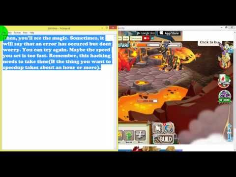 How to speedup hatching. building. breeding and growing of food in Dragon City using Cheat Engine 6