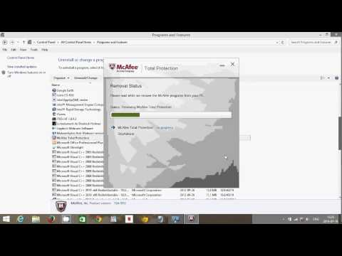 Windows 8.1 How to remove mcafee antivirus protection trial