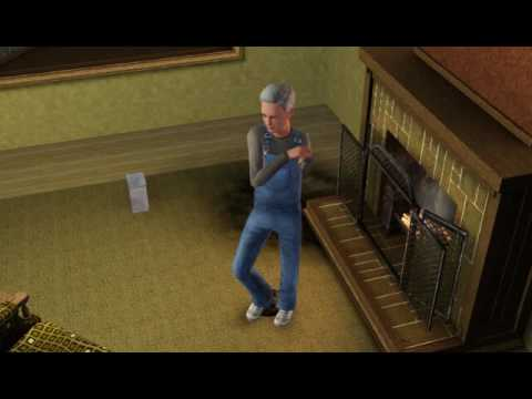 Sims 3--grandpa Dances On Grandma's Ashes. video