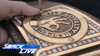 John Cena receives custom plates for his WWE Championship: SmackDown LIVE Exclusive, Jan. 31, 2017