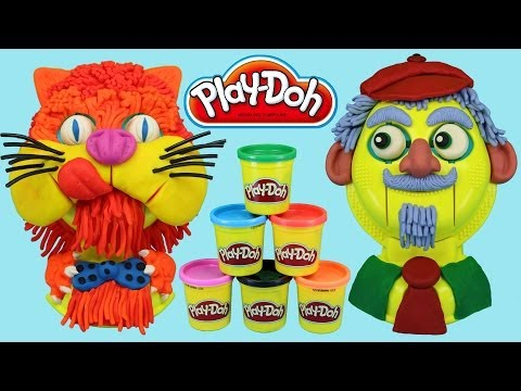 Play-Doh Play-Tetes Heads Playset, Play doh Cat and old Man Music Videos