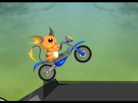 Drive as Raichu on a motorbike | Gameplay For Kids | Flash Games