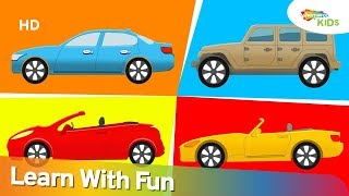 Learning Types of Cars for Kids | Types of Vehicles | Shemaroo Kids