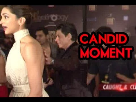 Shahrukh Khan & Deepika Padukone's candid moment at an award show