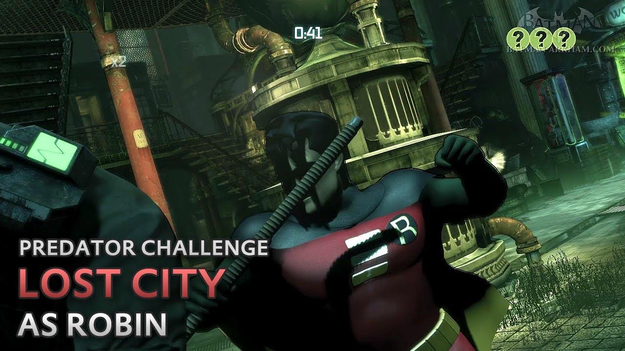Batman Predator Challenges Arkham City Batman Arkham City Lost