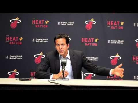 Erik Spoelstra discusses Miami Heat's win over New York Knicks
