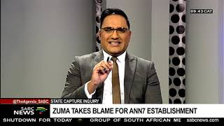 State Capture Inquiry | Zuma takes blame for ANN7 establishment