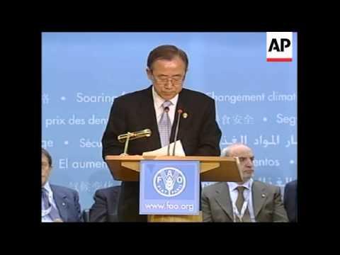 WRAP Speeches, Ban, Mubarak Mugabe at session ADDS Fukuda
