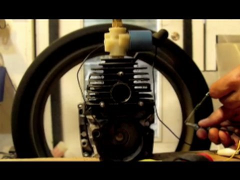 DIY STEAM ENGINE HACK TWO STROKE CONVERSION Weed Eater Hack Steam Power