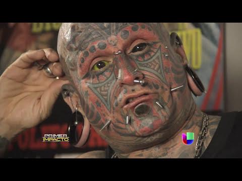 Conquistaron récord Guinnes con sus tatuajes e implantes - Primer Impacto