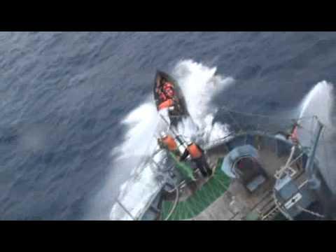 Bob Barker activists attack Japanese research vessel Yushin Maru No. 3