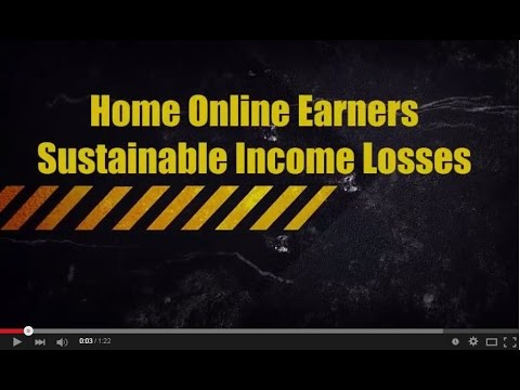 Home Online Earners Sustainable Income Losses