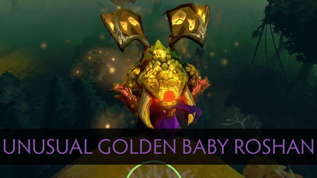 Dota 2 Unusual Golden Baby Roshan YouTube