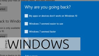 Uninstall Windows 10 and Downgrade to Windows 7