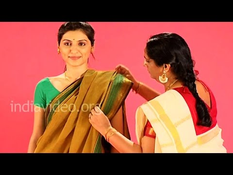 How to wear Madurai Saree in Flower Seller Style?