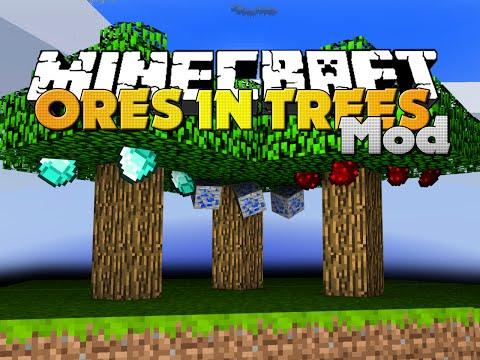 Minecraft Mod - TREE ORES MOD - GROW ORES