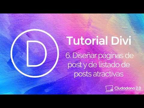 Diseñar páginas de post y una página de blog atractivas con Divi